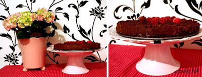 Tryffeltårta med hallon&grädde
