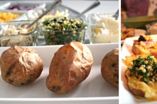 Fredagsmys med bakad potatis&röra