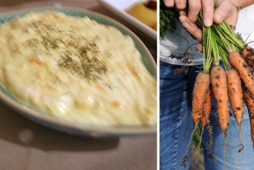 Yoghurtröra på morötter