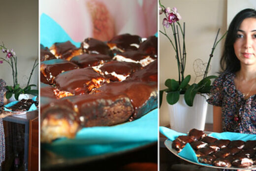 Brownie marschmallow och kola