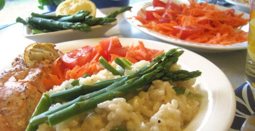 Recept på Risotto med sparris.