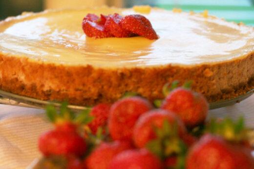 Jordgubbs Cheesecake