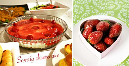 somrig cheesecake med bär