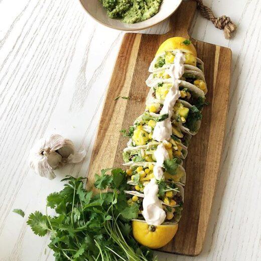 Vego taco med mangosalsa
