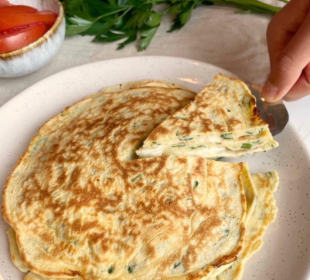 Pannbörek med mozarella