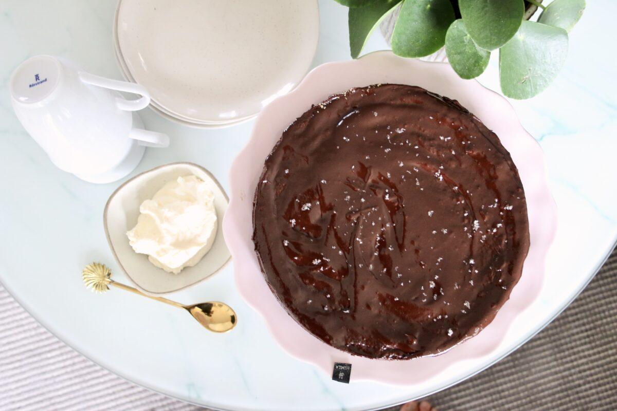Fransk chokladtårta -  glutenfri och sockerfri.